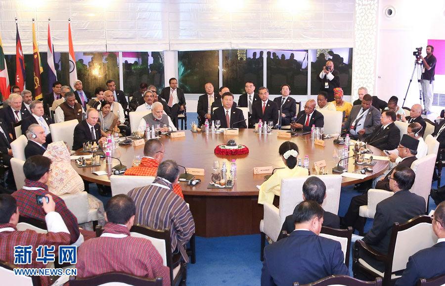 """Си Цзиньпин: для совместного процветания необходимо cостыковать инициативу """"Пояс и путь"""" и планы БИМСТЕК"""