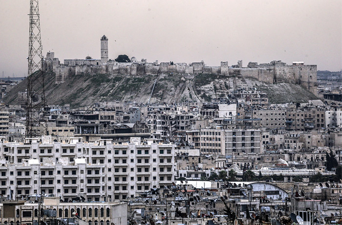 Вид на Цитадель Алеппо
