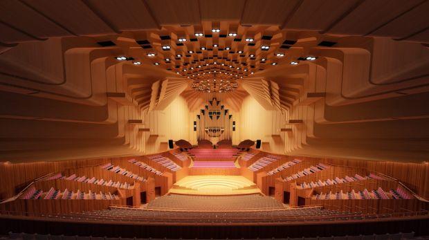 升级后的悉尼歌剧院音乐厅效果图