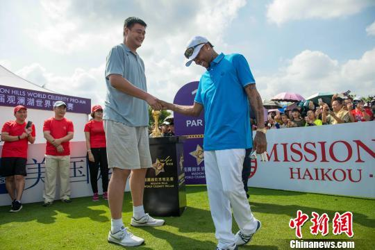 The two recent additions to the NBA Hall of Fame, Yao Ming and Allen Iverson were the focus of the attention from fans and participants.
