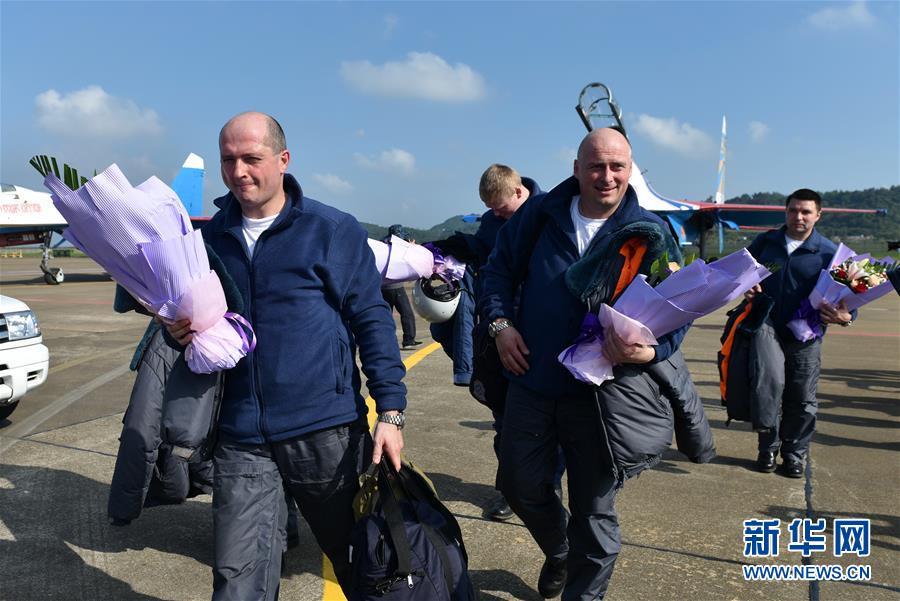 Российская пилотажная группа прибыла в Чжухай для участия в авиасалоне