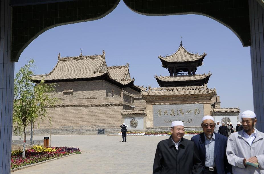 جامع تونغشين حيث أقيم اجتماع تأسيس حكومة محافظة يويهاي الذاتية الحكم لأبناء قومية هوي في مقاطعة شانقاننينغ.