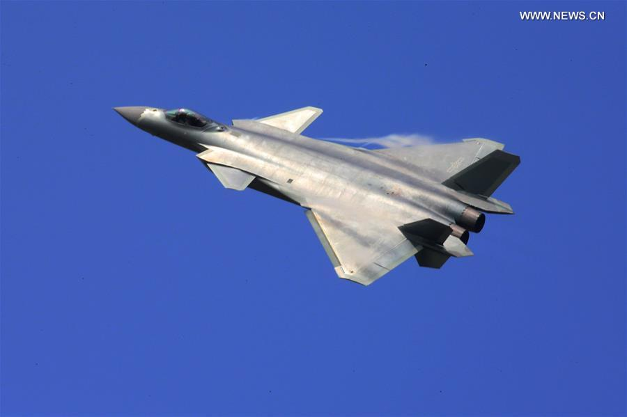 A J-20 stealth fighter of China