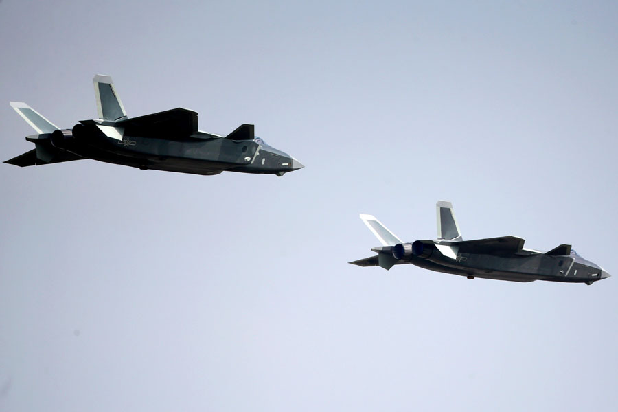 The latest J-20 stealth fighter jet during a demonstration flight at Air Show China in Zhuhai city, South China