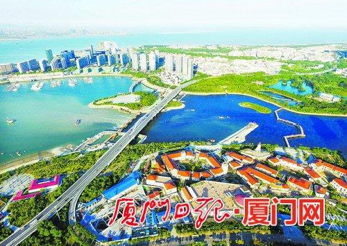 """湖里区聘请专业""""大管家"""",打造一流城区环境。(本报记者 王火炎 航拍器摄)"""