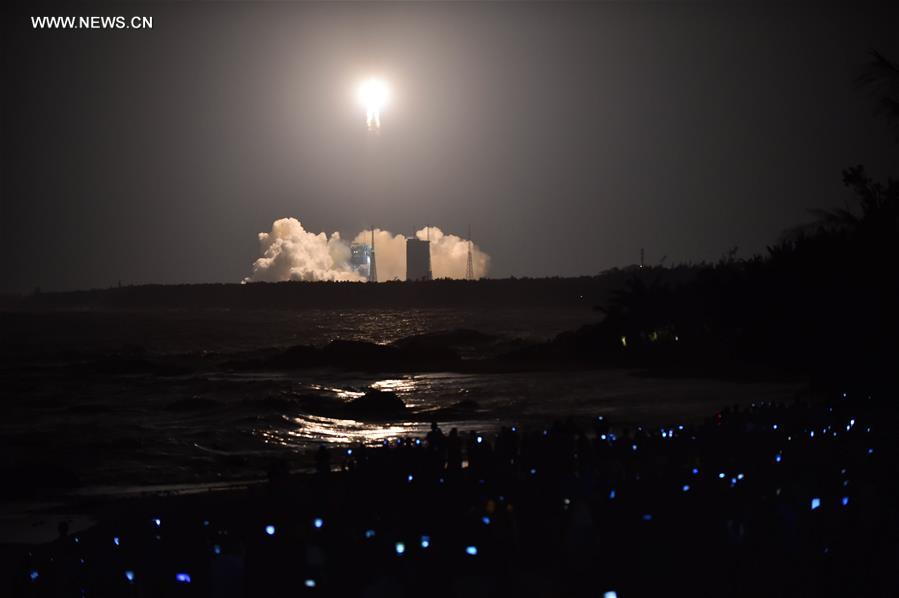 China boosts space programme with heavy rocket launch