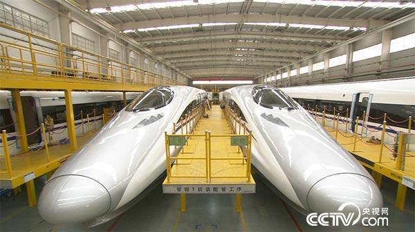 中车四方股份公司厂房,这里是中国最大的高速动车组生产基地.