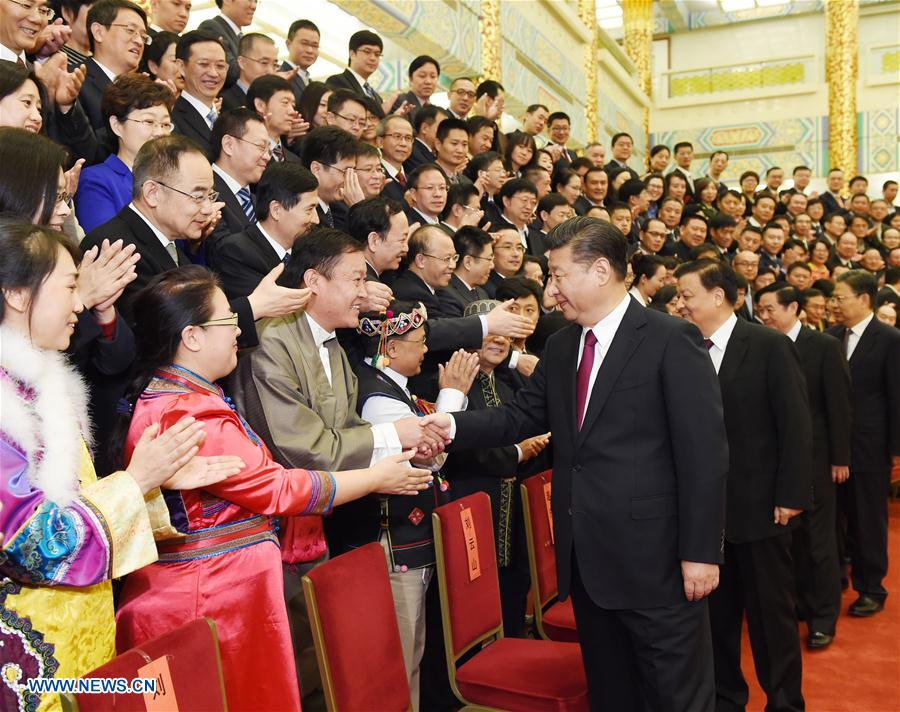 Top Communist Party of China (CPC) and state leadersXi JinpingandLiu Yunshanmeet with representatives of winners of this year