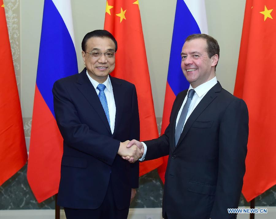 Li Keqiang rencontre Dmitry Medvedev