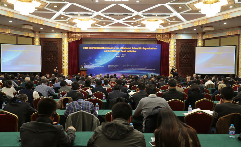 Scientists from around the world gathered in Beijing for the first Belt and Road Technological Innovation Symposium on Monday.