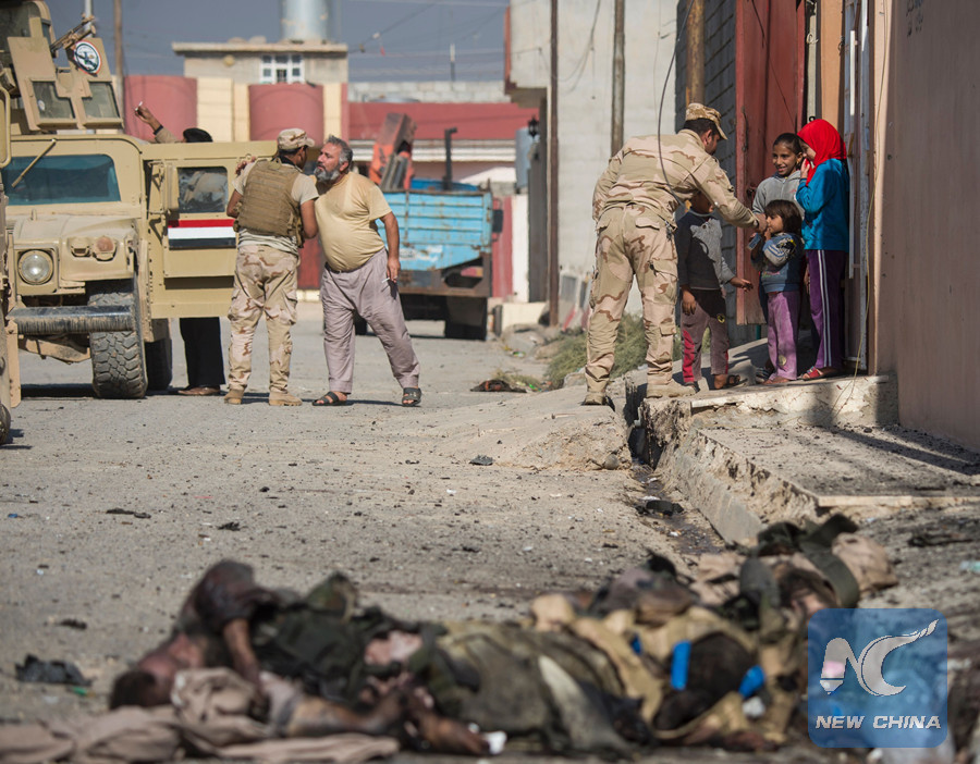 The bodies are believed to be the ones executed by the terrorist Islamic State (IS) militant group, the statement said, adding that forensics team will arrive to investigate the site. (AFP photo)
