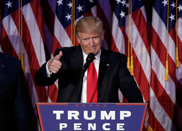 Republican Donald Trump has beaten Democrat rival Hillary Clinton in a close race to win the 45th U.S. presidency early on Wednesday, pulling a major upset after a controversial and scandalous campaign cycle.