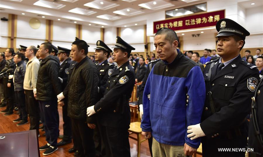 Photo taken on Nov. 9, 2016 shows the trial scene at a court in north China