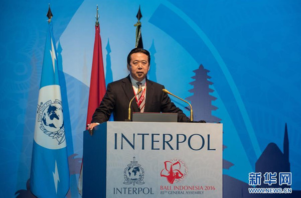 China police official to head Interpol amid graft crackdown