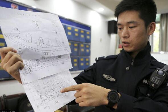 西安两盗贼手绘停车场地图专挑深夜砸车盗窃