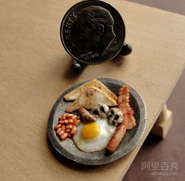 微型粘土食物雕塑 让人想要流口水