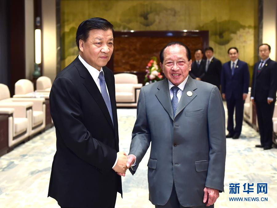 التقى ليو يون شان مع نائب رئيس الوزراء الكمبودي هور نامهونغ