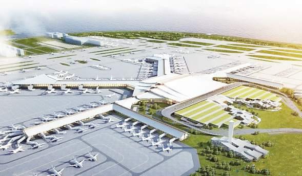 机场用地除利用部分大嶝岛土地外,建设用地主要以填海为主.