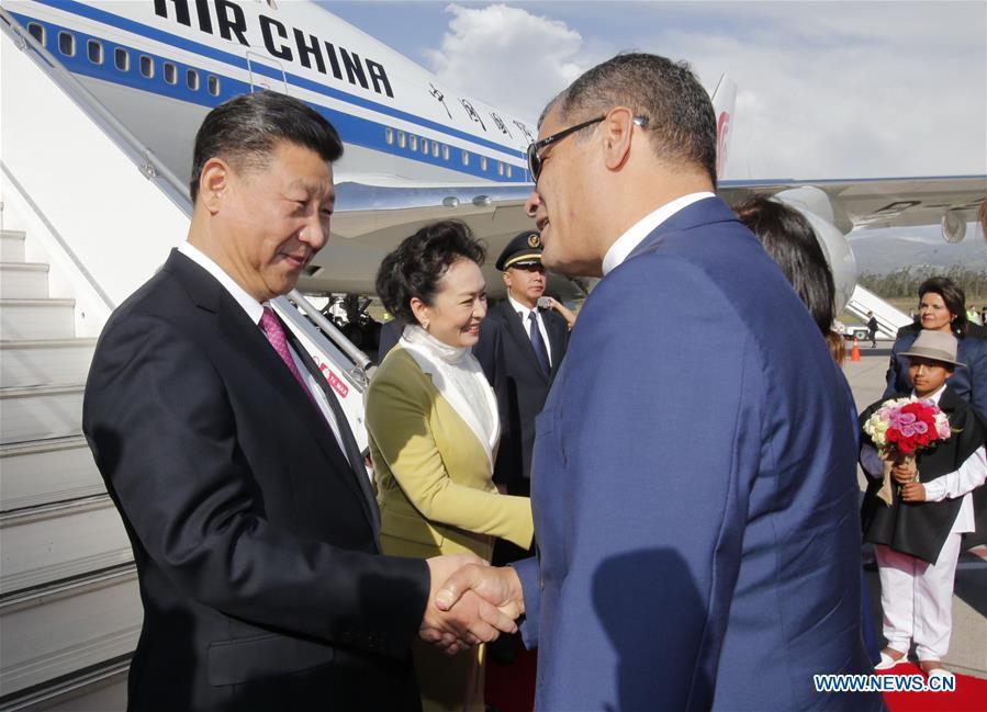 Xi Jinping arrive en Equateur pour sa troisième visite en Amérique Latine depuis 2013