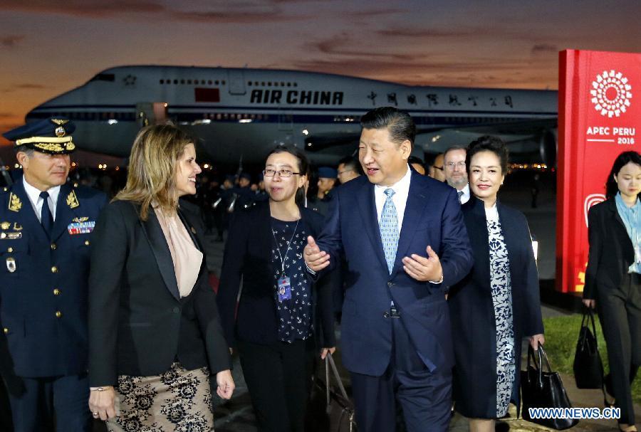 Xi Jinping au Pérou pour une réunion de l