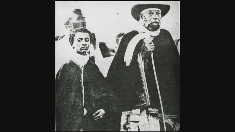 Young Haile Selassie with his father Ras Makonnen.