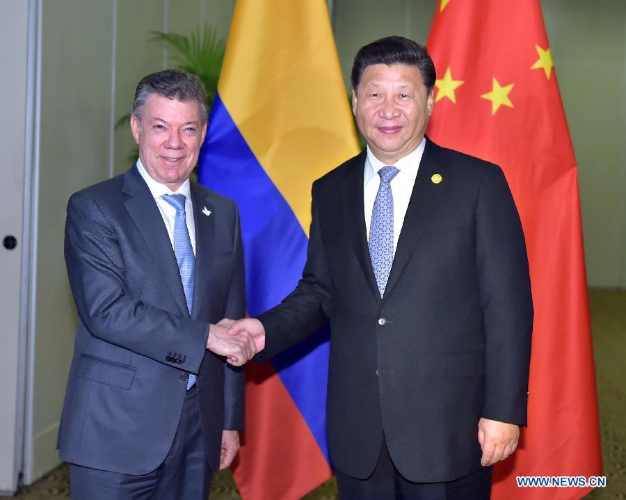 La Chine soutient le processus de paix en Colombie (président)