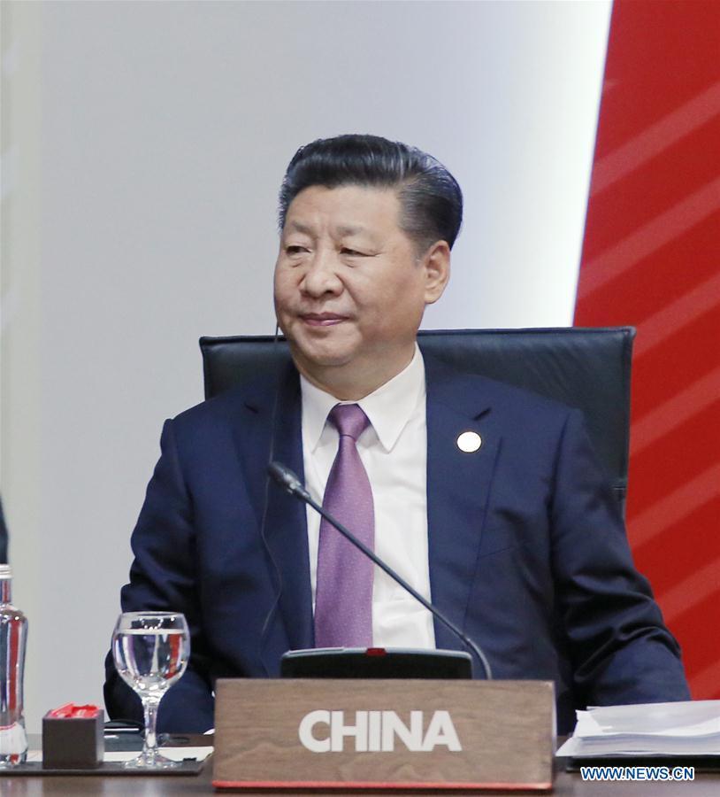 LIMA, 21 novembre (Xinhua) -- Le président chinois Xi Jinping assiste à la 24e Réunion des dirigeants économiques de l