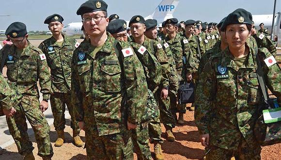 Контингент Сил самообороны Японии высадился в Южном Судане
