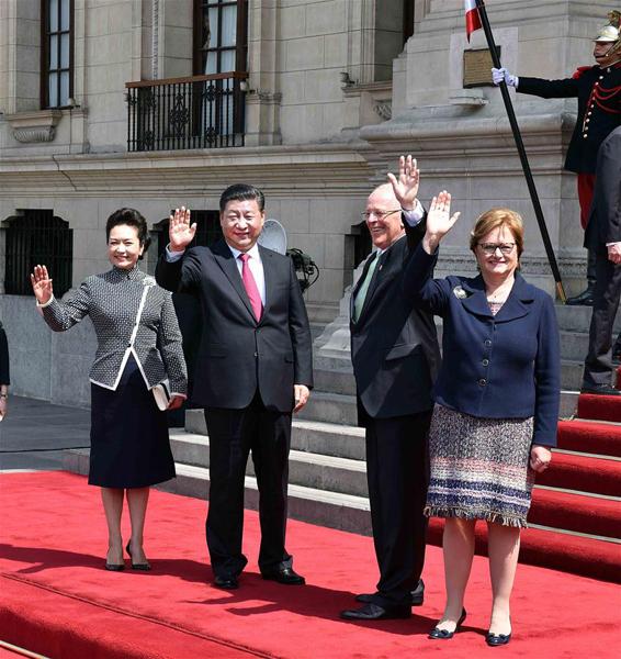 Presidente de China comienza su visita de Estado a Perú