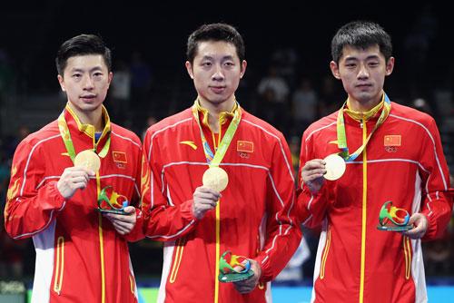 风云人物团队最佳服装奖候选年度:中国乒乓球安踏乒乓球龙团队图片