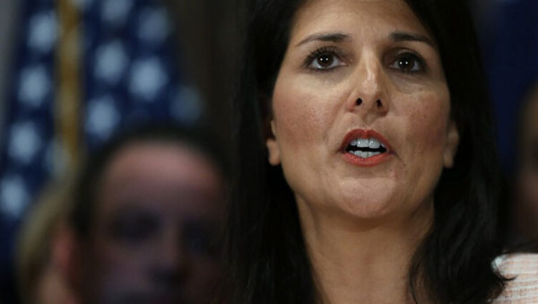 Haley picked for United Nations ambassador
