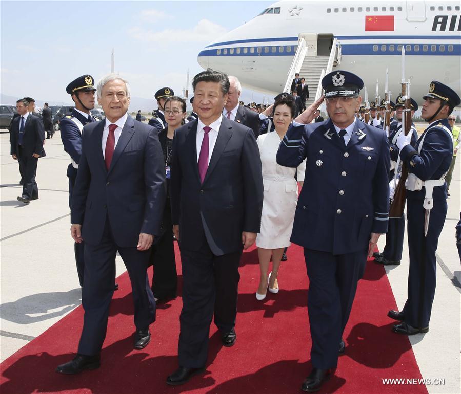 Le président chinois arrive au Chili pour une visite d