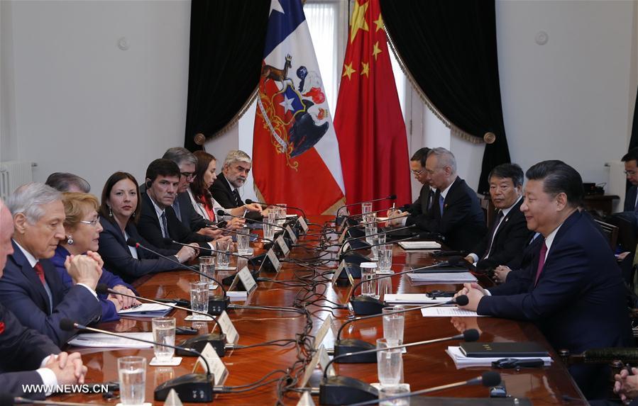 La Chine et le Chili hissent leurs relations bilatérales au niveau de partenariat stratégique global