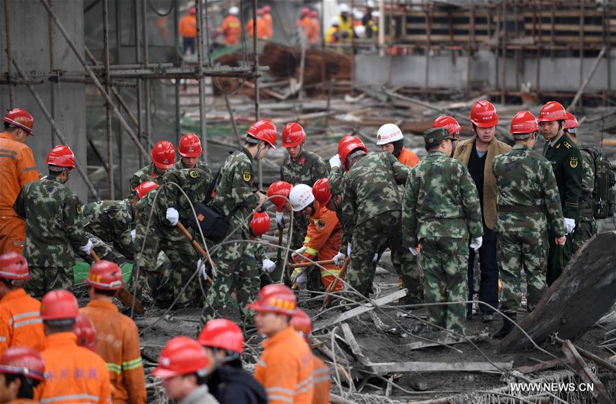 Jiangxi construction site collapse death toll rises to 74