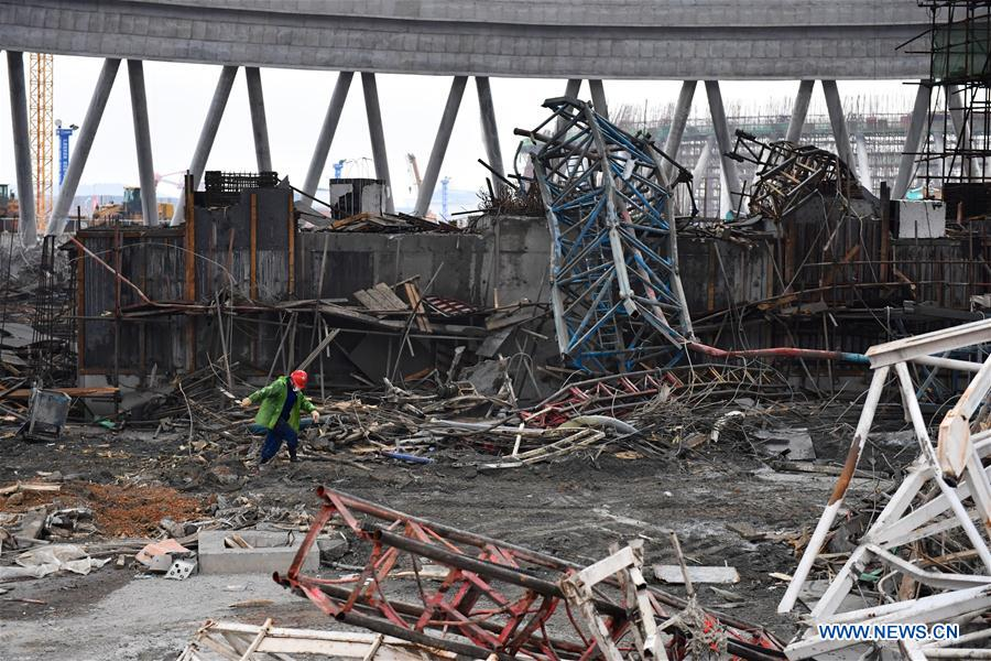 9 detained over power plant collapse in China