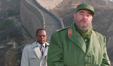 Cuban Prsident Fidel Castro stands on the Great Wall of China, 70 kilometers north of Beijing in December, 1995. Castro, who was in China to boost trade and study the country