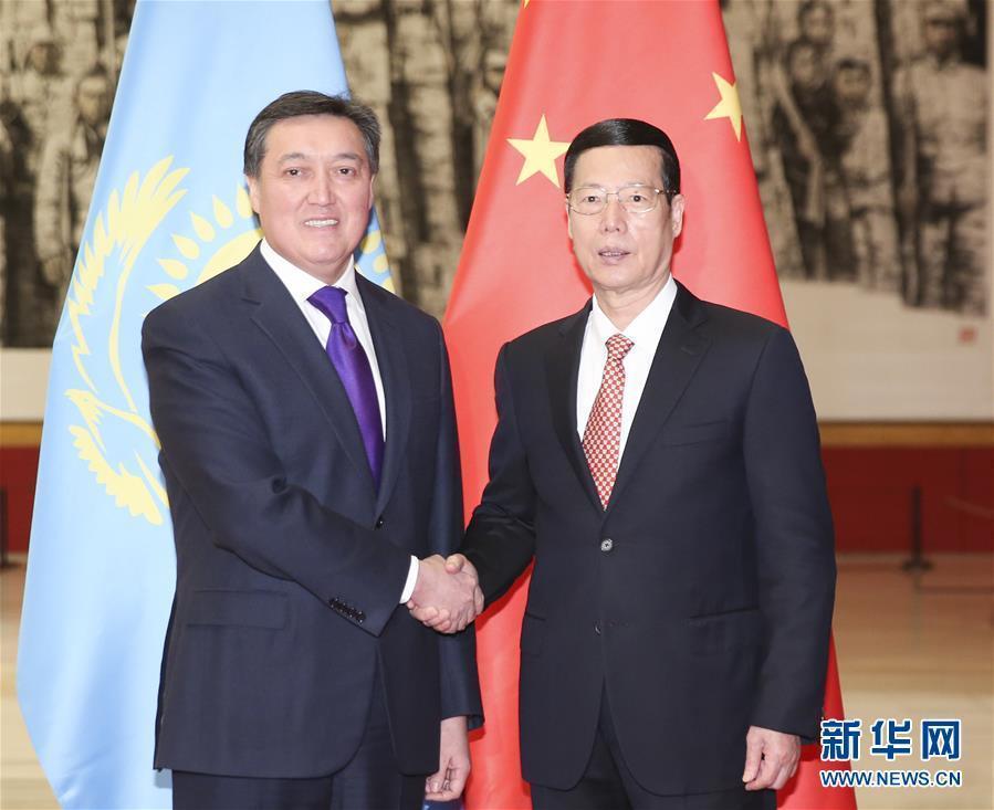 Вице-премьер Госсовета КНР Чжан Гаоли встретился с первым заместителем премьер-министра Казахстана