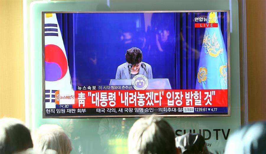 Park Geun-hye pone su cargo a disposición del Parlamento