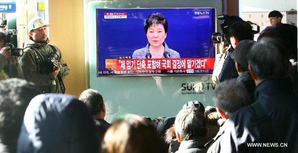 رئيسة كوريا الجنوبية تعتزم الامتثال لأي قرار برلماني بما في ذلك اختصار فترتها الرئاسية