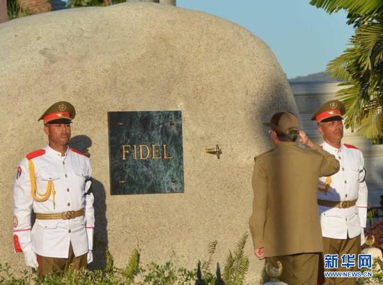 El líder histórico de la Revolución Cubana reposa en el cementerio de Santa Ifigenia