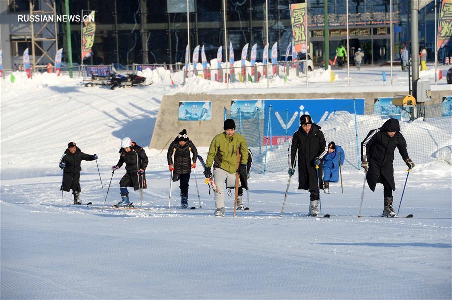 Победа над собой -- Тренировки лыжников-инвалидов в снежных горах провинции Хэйлунцзян