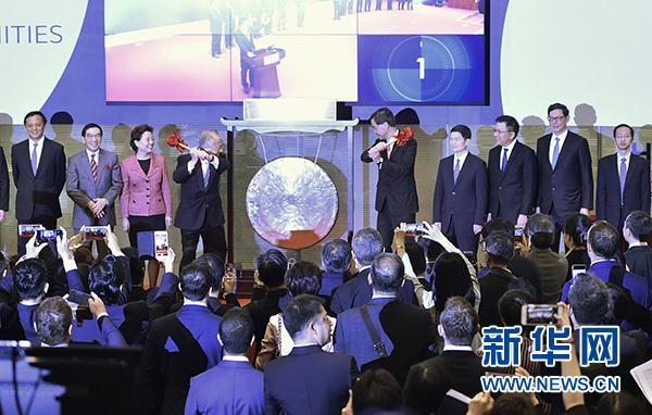La connexion Shenzhen-Hongkong a démarré