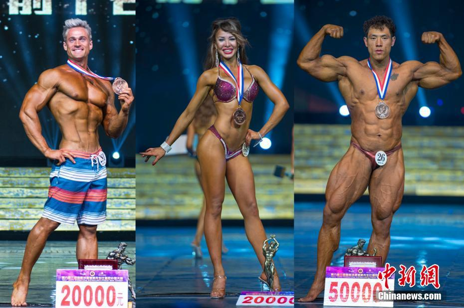 Li wins bodybuilding title, Maximova earns fitness bikini crown in Sanya