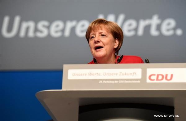 إعادة انتخاب ميركل رئيسة لحزب الاتحاد الديمقراطي المسيحي