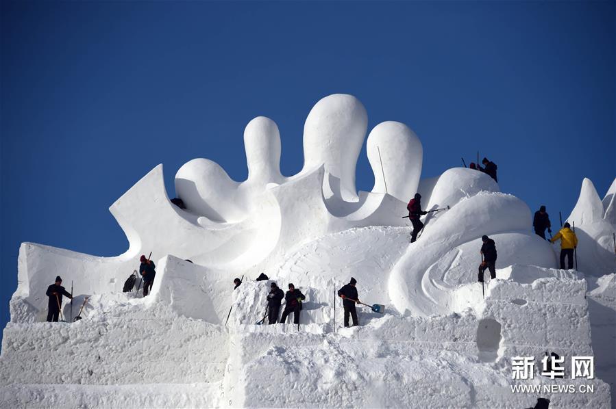 В Харбине началась подготовка к традиционной выставке скульптур из снега и льда