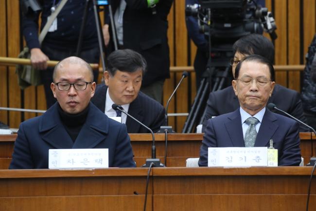 El exasistente de Park confiesa durante la audiencia parlamentaria