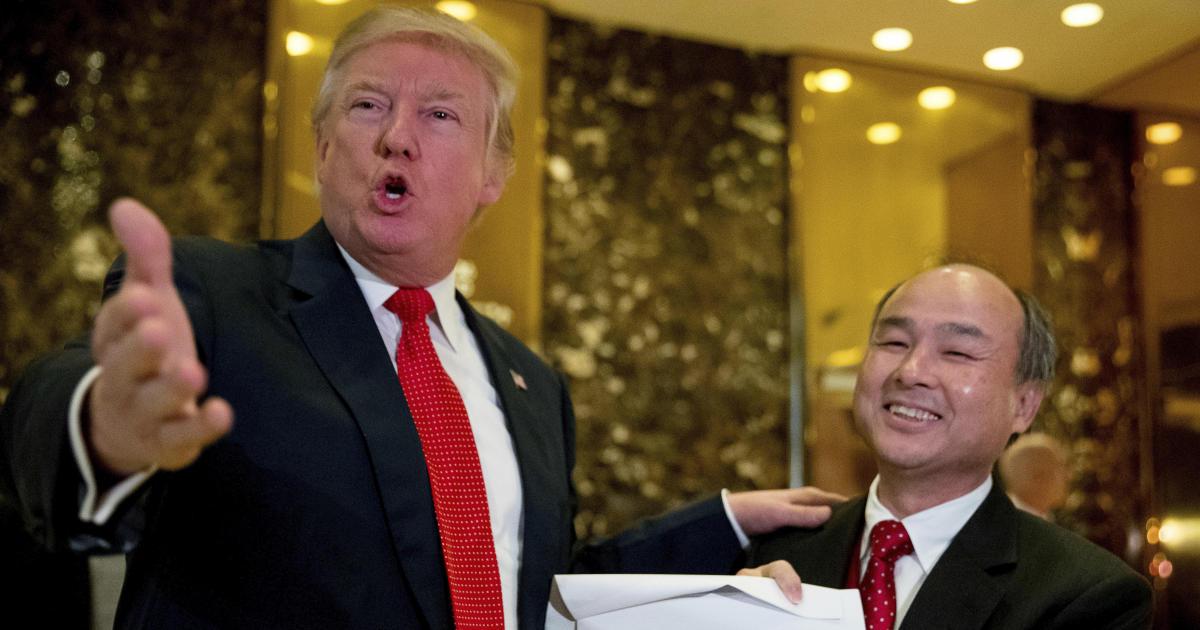 Trump annonce un investissement de Softbank de 50 mlds de dollars