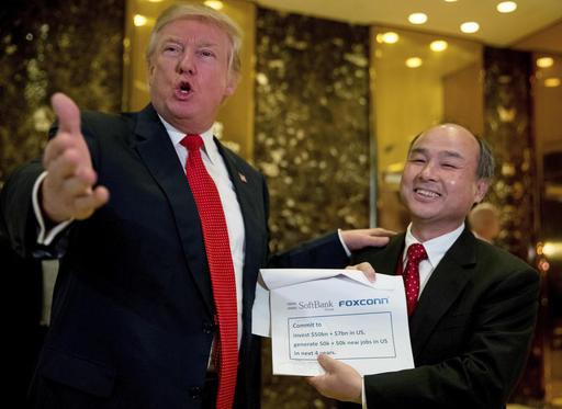 Trump anuncia una inversión en Softbank de 50 mil millones de dólares