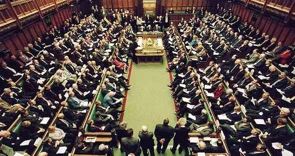 △资料图:英国下议院会场