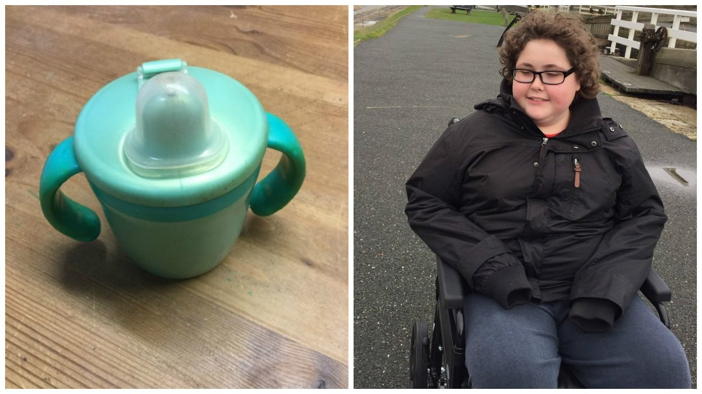 A boy with autism needed a replacement for his beloved sippy cup -- instead he got a thousand. Four machines and a dozen workers in a Chinese factory will be repurposed for a whole week, just to make about 1,000 Pearlized Green Tommee Tippee cups for...